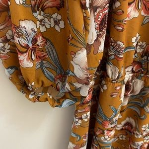 Forever 21 Dresses - Forever 21 NWT Shoulder LS Dress Ginger Floral 2X